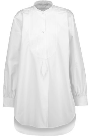 J.W.ANDERSON Pintucked cotton-poplin shirt