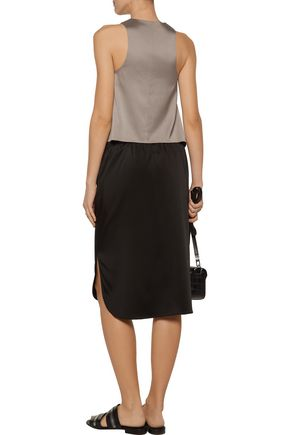 T by ALEXANDER WANG Silk-twill top