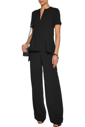 T by ALEXANDER WANG Crepe peplum top