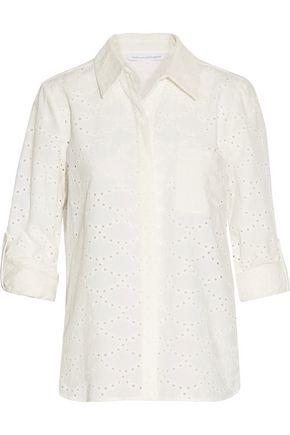 DIANE VON FURSTENBERG Lorelei broderie anglaise cotton shirt