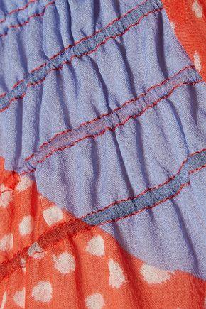 DIANE VON FURSTENBERG Parry printed silk crepe de chine top