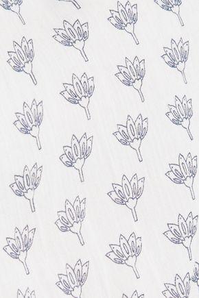 DIANE VON FURSTENBERG Rissa printed cotton top