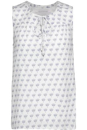 DIANE VON FURSTENBERG Rissa printed cotton top