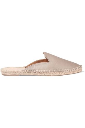IRIS AND INK Leather espadrille slippers
