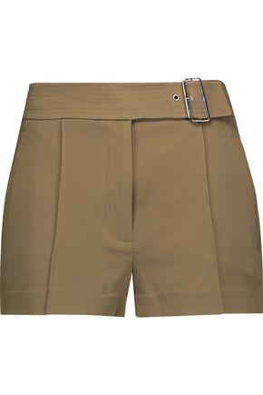 A.L.C. Del belted crepe shorts