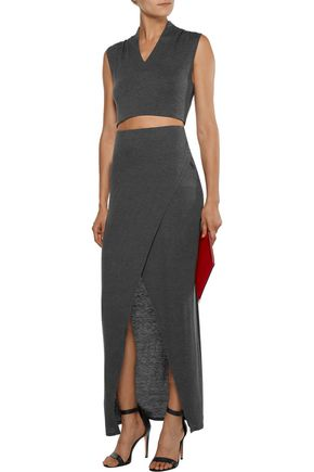 ALICE + OLIVIA Kelis cropped stretch-jersey top