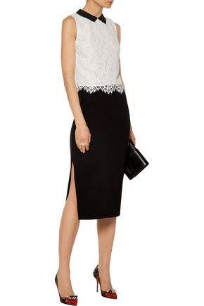ALICE + OLIVIA Wylie lace top