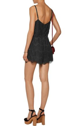 ALICE + OLIVIA Cassia corded lace playsuit