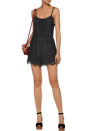 ... ALICE + OLIVIA Cassia corded lace playsuit ...