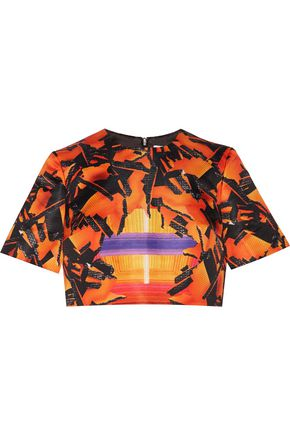 PETER PILOTTO Meteorite printed satin top