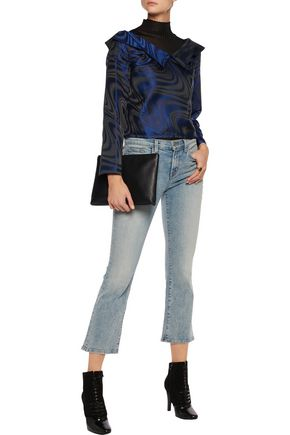 OPENING CEREMONY Guilloche off-the-shoulder jacquard top