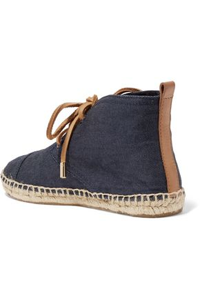 TORY BURCH Lace-up denim espadrilles