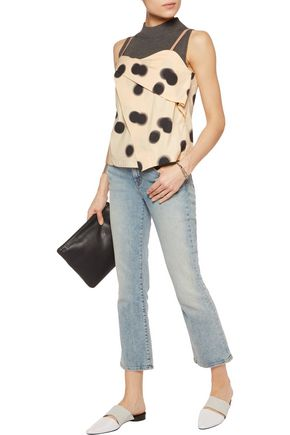 MARC BY MARC JACOBS Draped printed cotton top