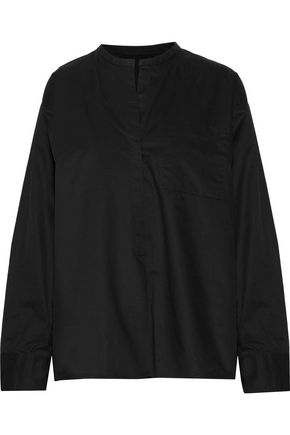 ISABEL MARANT Niza pleated cotton-poplin shirt