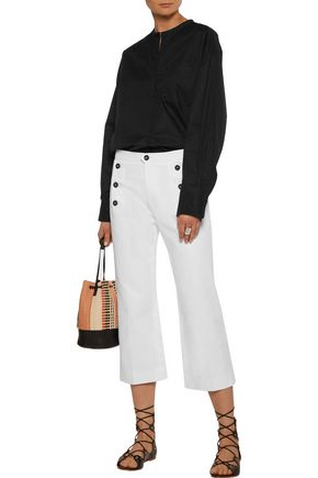 ISABEL MARANT Niza pleated cotton-poplin shirt
