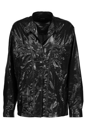 ISABEL MARANT Nancy silk-blend lamé shirt