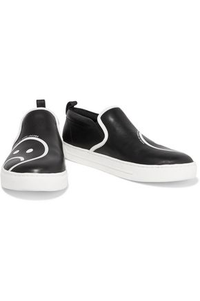 MARC BY MARC JACOBS Broome printed leather slip on sneakers