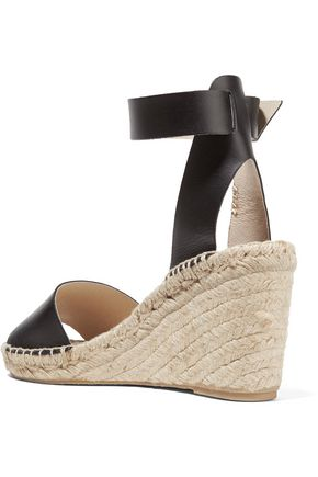 SOLUDOS Leather espadrille wedge sandals