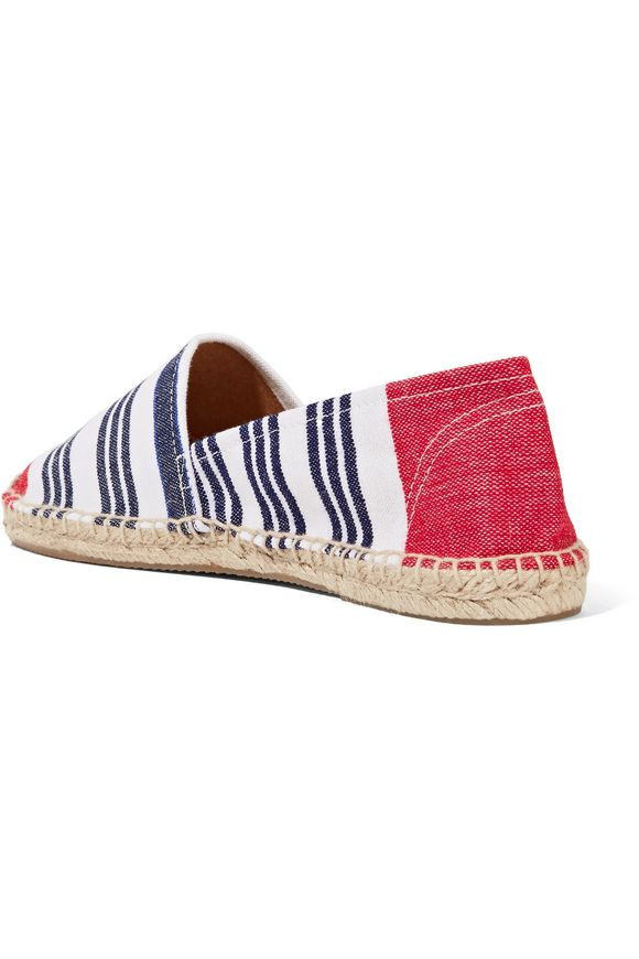 SOLUDOS + Lemlem Original Dali Meron striped canvas espadrille