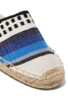 SOLUDOS Lula lace-up intarsia-knit espadrilles