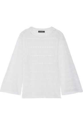 ISABEL MARANT Almeria crochet-knit linen-blend top
