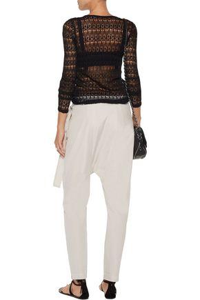 ISABEL MARANT Ashlyn linen-blend lace top