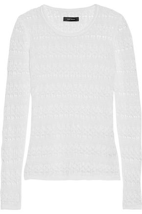 ISABEL MARANT Ashlyn linen-blend lace top