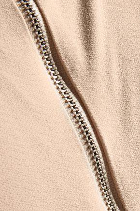 ALICE + OLIVIA Leilani cropped cutout stretch-crepe top