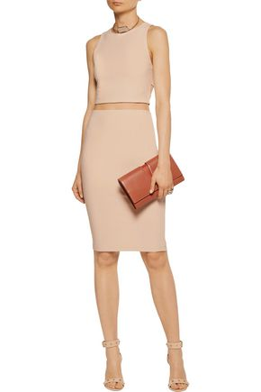ALICE + OLIVIA Leilani cropped cutout stretch-crepe top