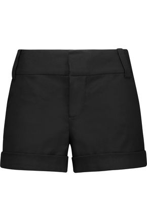ALICE + OLIVIA Stretch cotton-blend canvas shorts