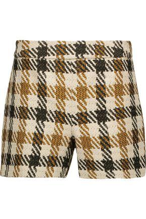ALICE + OLIVIA Marisa checked woven shorts