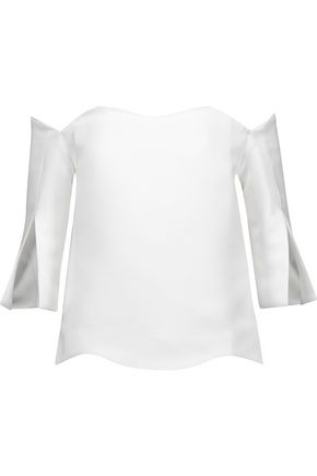 PAPER London Florida off-the-shoulder crepe top