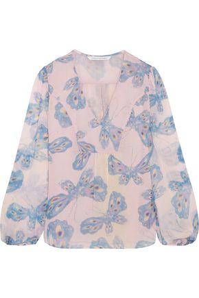 DIANE VON FURSTENBERG Masyln printed silk-chiffon blouse