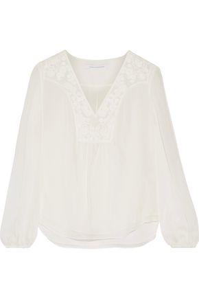 DIANE VON FURSTENBERG Maslyn embroidered silk-chiffon blouse