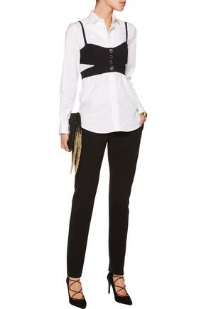 TEMPERLEY LONDON Nico cropped cutout crepe top
