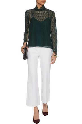 SALONI Mia embroidered guipure lace blouse