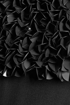 HALSTON HERITAGE Embellished silk-chiffon top