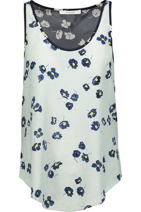 10 CROSBY DEREK LAM Floral-print silk top