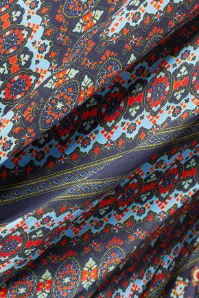 DEREK LAM 10 CROSBY Printed silk top