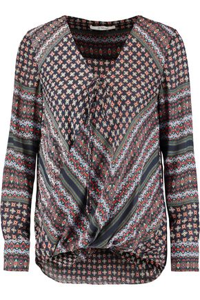 DEREK LAM 10 CROSBY Printed silk top