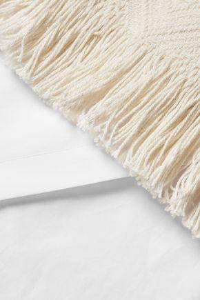 10 CROSBY DEREK LAM Fringed woven cotton-blend top