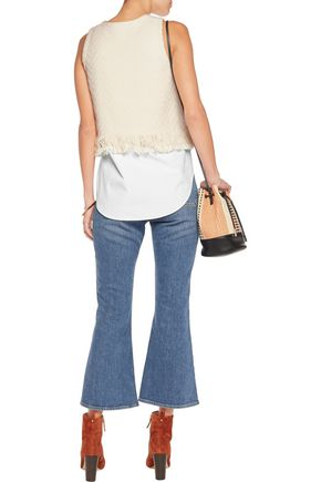10 CROSBY DEREK LAM Fringed woven cotton-blend top