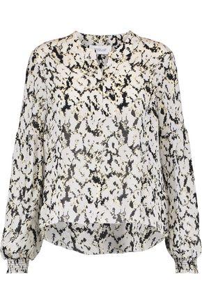 DEREK LAM 10 CROSBY Printed silk-chiffon blouse