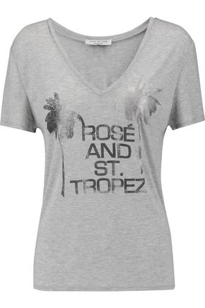 HALSTON HERITAGE Printed modal-jersey T-shirt