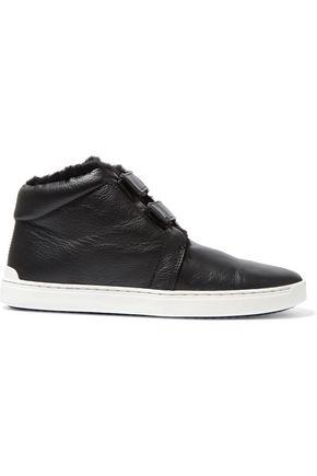 RAG & BONE Kent faux fur-lined leather sneakers
