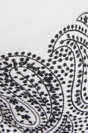 MICHAEL MICHAEL KORS Embroidered linen shorts