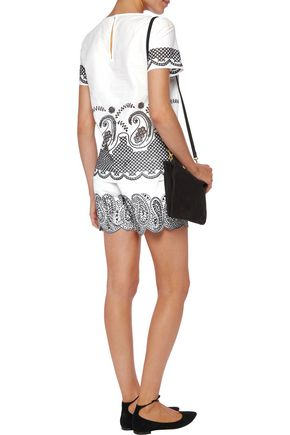 MICHAEL MICHAEL KORS Embroidered linen shorts