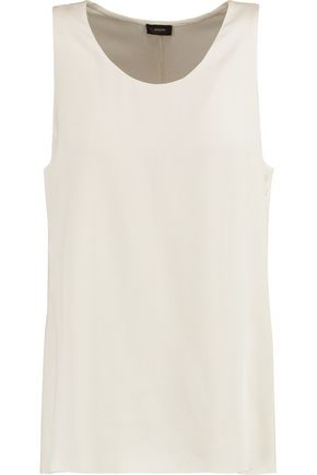 JOSEPH Layered silk-crepe top