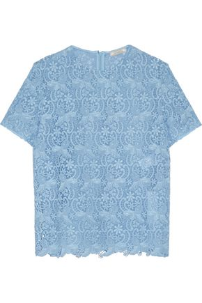 NINA RICCI Cotton-blend lace top