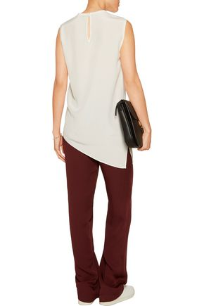 JOSEPH Asymmetric split-hem silk blouse